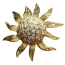 Broche Tournesol Goossens pour YSL - Yves Saint Laurent
