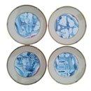 Lot de 4 assiettes Souvenir de Paris 1989 Porcelaine Limoges - Hermès