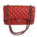 Sac Chanel Jumbo Timeless Rouge en cuir d'agneau