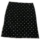 Chanel navy mesh skirt