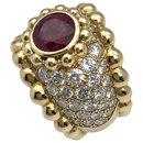 Bague Chanel en or jaune, rubis et diamants