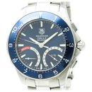Tag Heuer Silver Stainless Steel Aquaracer Calibre S Regatta Quartz Watch CAF7110.BA0803