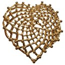 Broche pendentif coeur doré - Yves Saint Laurent