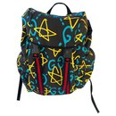 GUCCI Ghost canvas backpack, Gucci webbing straps