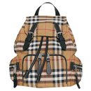 BURBERRY The Rucksack shoulder bag with Vintage check pattern - Burberry
