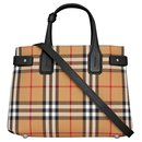BURBERRY The Small Banner in Vintage Check and Leather SAC BORSA - Burberry