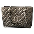 Chanel Black Caviar GST tote shoulder bag