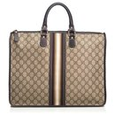 Gucci Brown Web Briefcase