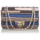 Chanel Pink CC Heart Printed Cotton Medium Flap Bag