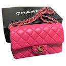 Chanel Hot Pink mini rectangular bag