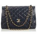 Chanel Blue Medium Lambskin lined Flap Bag