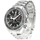 Omega Silver Stainless Steel Seamaster Planet Ocean Chronograph Automatic Watch 232.30.46.51.01.003