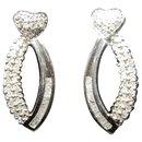 Boucles d'oreilles pendantes Coeurs en Or blanc et Diamants 0.52 cts - Autre Marque