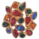 a5e0386d41e Yves Saint Laurent Brooch Pins & brooches Polyester Black ref.45877 ...