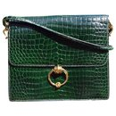 Hermès Sequana handbag in green Porosus crocodile + card holder