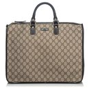 Gucci Brown GG Briefcase