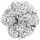 "Chanel ring model ""Camelia"" in white gold and diamonds."
