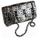 Limited  Laser Cut Logo Classic Flap Bag - Chanel