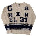 Varsity Iconic Logo Pullover Sweater Size 34 - Chanel