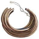 New Saint Laurent silver graphic cuff bracelet - Yves Saint Laurent