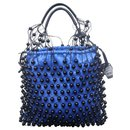LEATHER AND BEAD FISHNET BAG - Mulberry