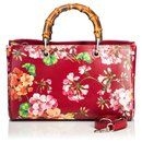 Gucci Red Blooms Bamboo Shopper