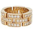 """Bague Cartier """"Maillon Panthère"""" or jaune, diamants."""