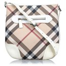 Burberry White Supernova Coated Canvas Dryden Crossbody Bag