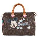 """Louis Vuitton Speedy Handbag 30 Customized """"Bambi"""" Monogram by PatBo!"""