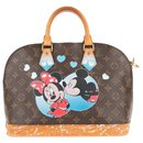 "Louis Vuitton Alma ""Minnie & Mickey"" customized by artist PAtBo!"