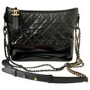 GABRIELLE de CHANEL large hobo bag IN BLACK DEGRADE LEATHER - Chanel
