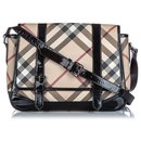 Burberry Brown Nova Check Coated Canvas Crossbody Bag