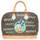 """Sac Louis Vuitton Alma Monogram customisé """"Picsou loves Money"""" par PatBo !"""