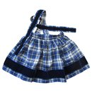 Skirt with straps, tartan, 3ans. - Bonpoint