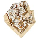 Hermes Brown Copeaux Silk Scarf - Hermès