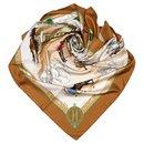 Hermes Brown Les Haras Nationaux Silk Scarf - Hermès