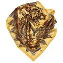 Hermes Yellow Lor des Chefs Silk Scarf - Hermès