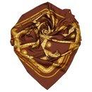 Hermes Brown Camails Silk Scarf - Hermès
