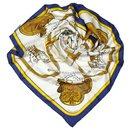 Hermes White Grand Apparat Silk Scarf - Hermès
