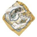 Hermes White LHiver En Poste Silk Scarf - Hermès
