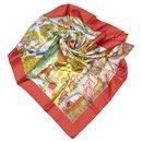 Hermes Brown Nuba Mountain Silk Scarf - Hermès