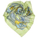 Hermes Green Ombres et Lumieres Silk Scarf - Hermès