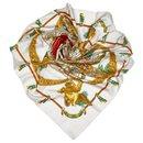 Hermes White Hommage a Charles Garnier Silk Scarf - Hermès