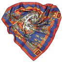 Hermes Blue Astres et Soleils Silk Scarf - Hermès