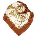Hermes White Parures des Sables Silk Scarf - Hermès