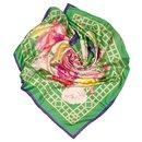 Hermes Green Roseraie Silk Scarf - Hermès