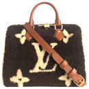 Louis Vuitton Speedy 25 Teddy Shearling Shoulder Strap