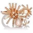 Chanel Pink CC Rhinestone Metal Ring