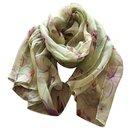 New printed silk chiffon scarf stole - Autre Marque
