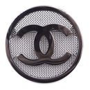 Chanel CC Round Textured Hardware Brooch Sku#28334